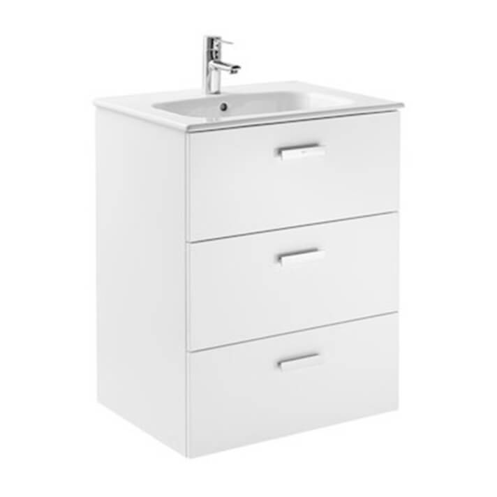 Mueble 3 cajones blanco 60cm Victoria Basic Roca