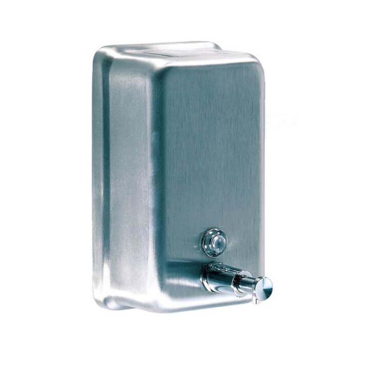 Dispensador jabón vertical satinado Mediclinics