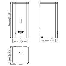 Dispensador jabón 1L automático blanco Mediclinics