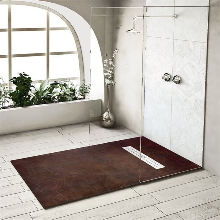 Plato de ducha de resina textura Retro Nudespol