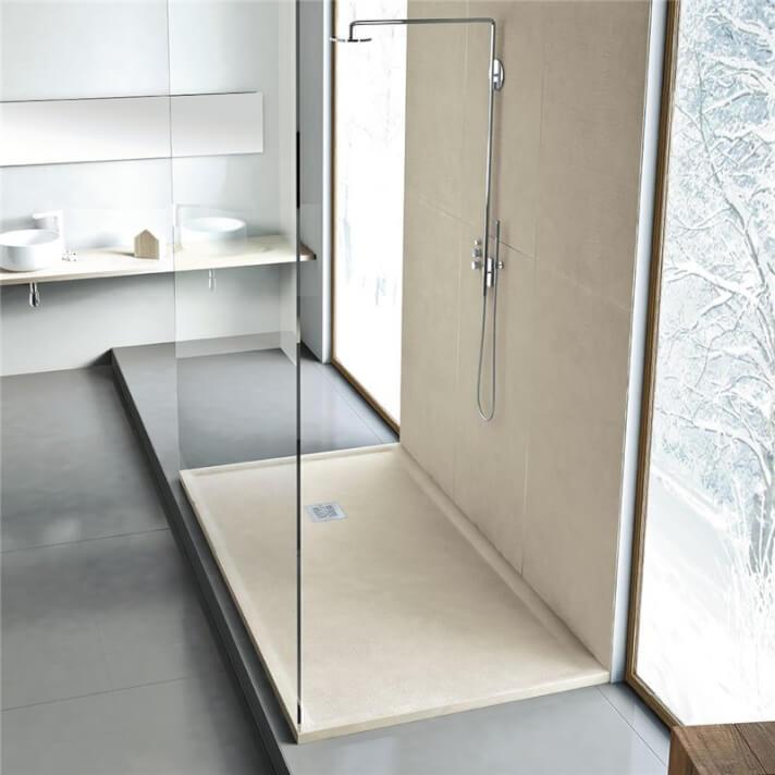 Plato de ducha de resina textura Piel Nudespol