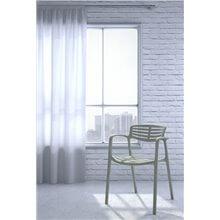 Lot de 2 chaises gris-vert Tolède Aire Resol