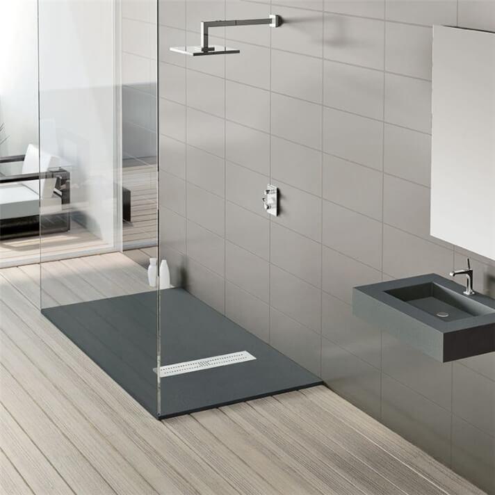 Plato de ducha de resina textura Granito Nudespol