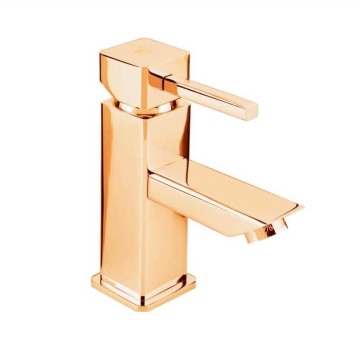Grifo monomando de lavabo oro Catral