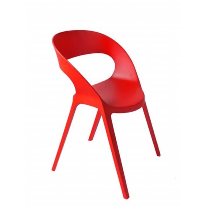 Lot de 2 chaises rouges Carla Resol
