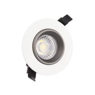 Foco LED circular direccionable Ø10'5x7'5cm 12W negro