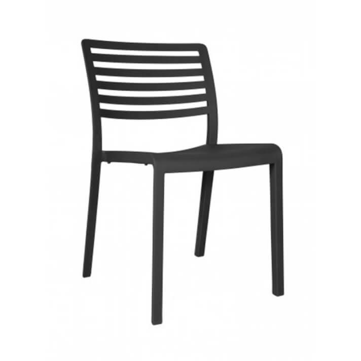 Lot de 2 chaises gris foncé Lama Resol