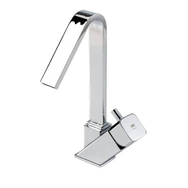 Grifería monomando lavabo caño alto cromo Catral