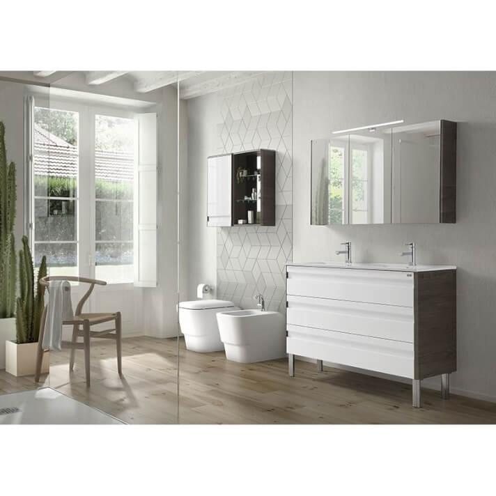Conjunto baño de mueble + lavabo + espejo 120 Barcelona-3 VALENZUELA