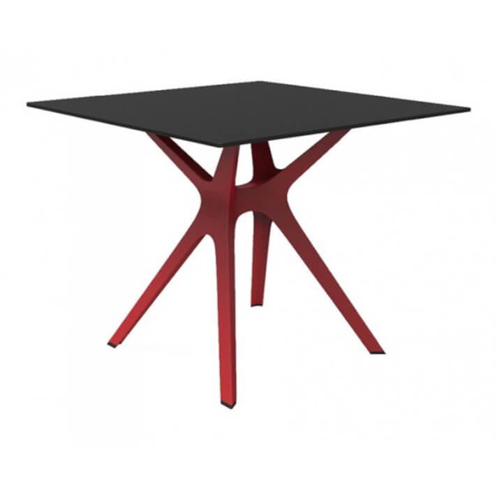 Mesa roja y negra VELA S 70 de Resol