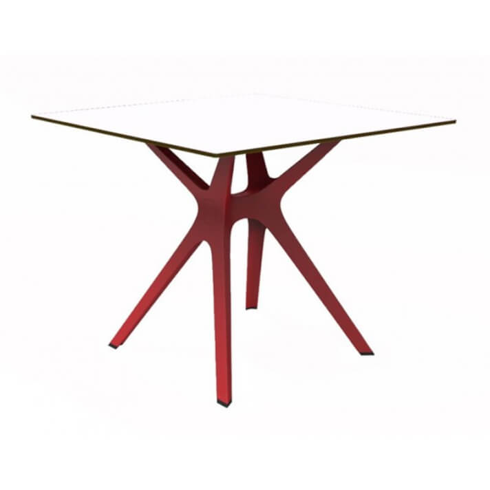 Mesa roja y blanca VELA S 80 de Resol