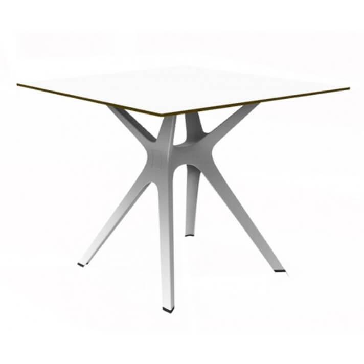 Table carrée blanche Vela S 90 de Resol