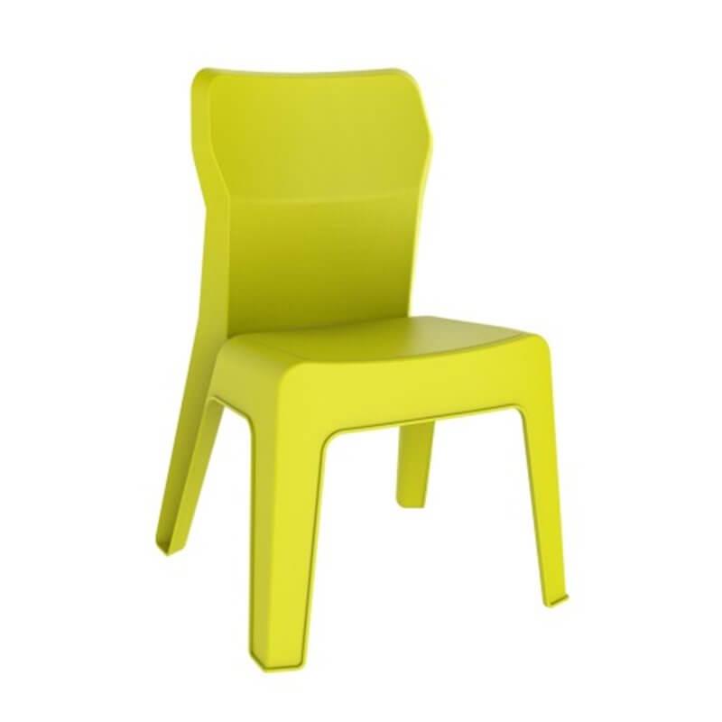 Lot de 4 chaises enfant vert citron Jan Resol