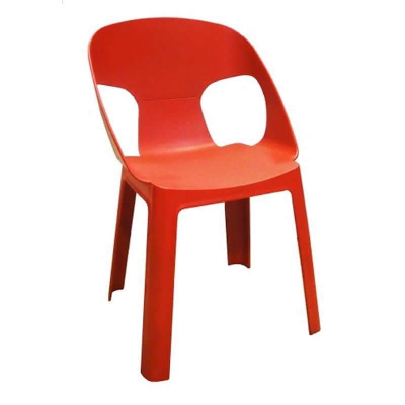 Lot de 4 chaises enfant rouge Rita Resol