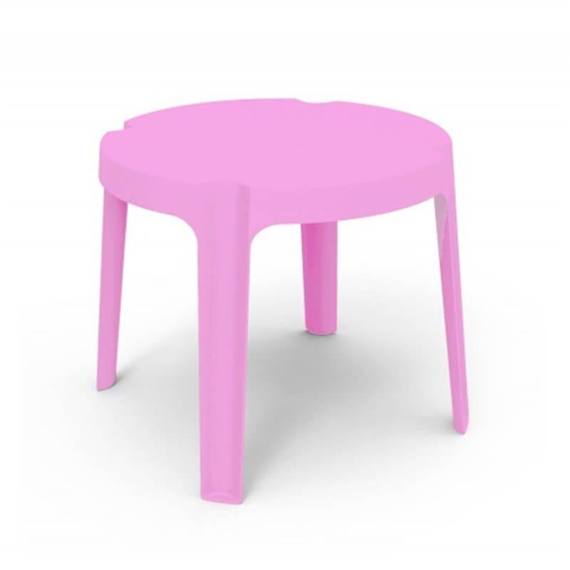 Lot de 4 tables enfant roses Rita Resol
