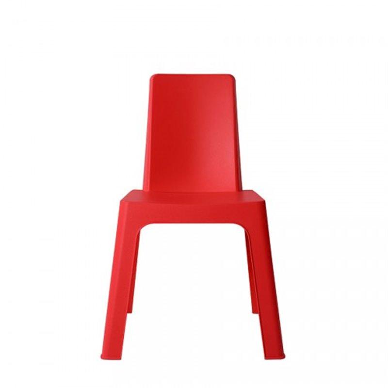 Lot de 4 chaises enfant rouges Juliette Resol