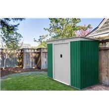 Abri de jardin en métal 2,43m² Buckingham vert...