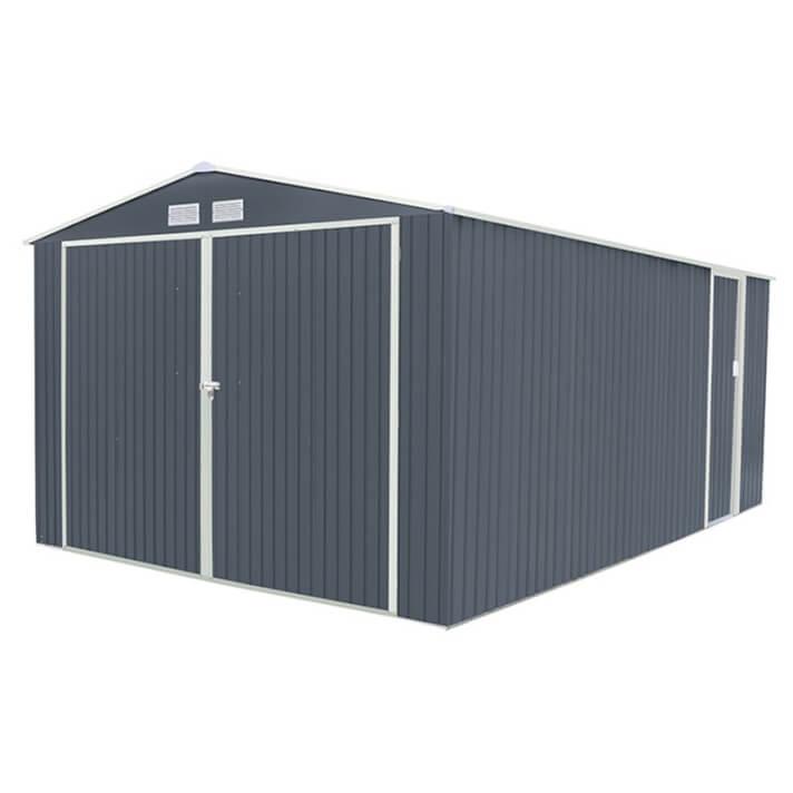 Garagem metálica 20,52m² Oxford cinzenta - GARDIUN