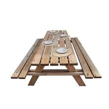 Mesa madera picnic 200x148x70cm Gardiun