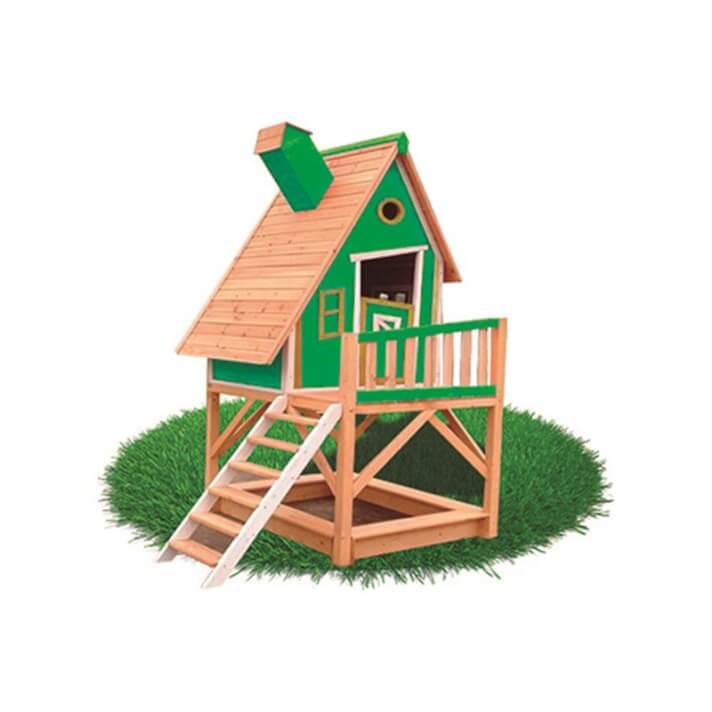 Casita infantil 2,28m² Pinocho verde Outdoor Toys