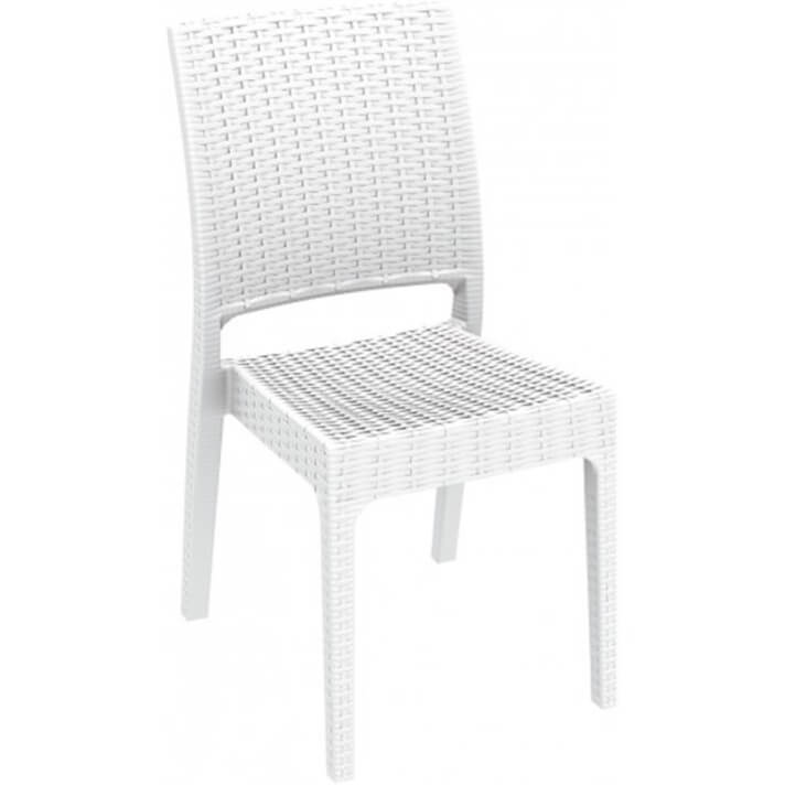 Lot de 4 chaises blanches Indienne Resol