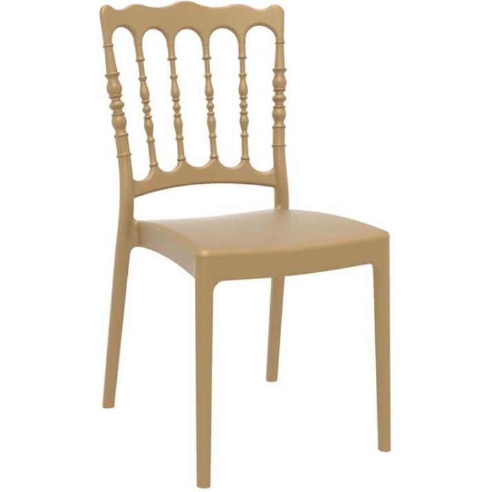 Lot de 4 chaises dorées Napoléon Resol
