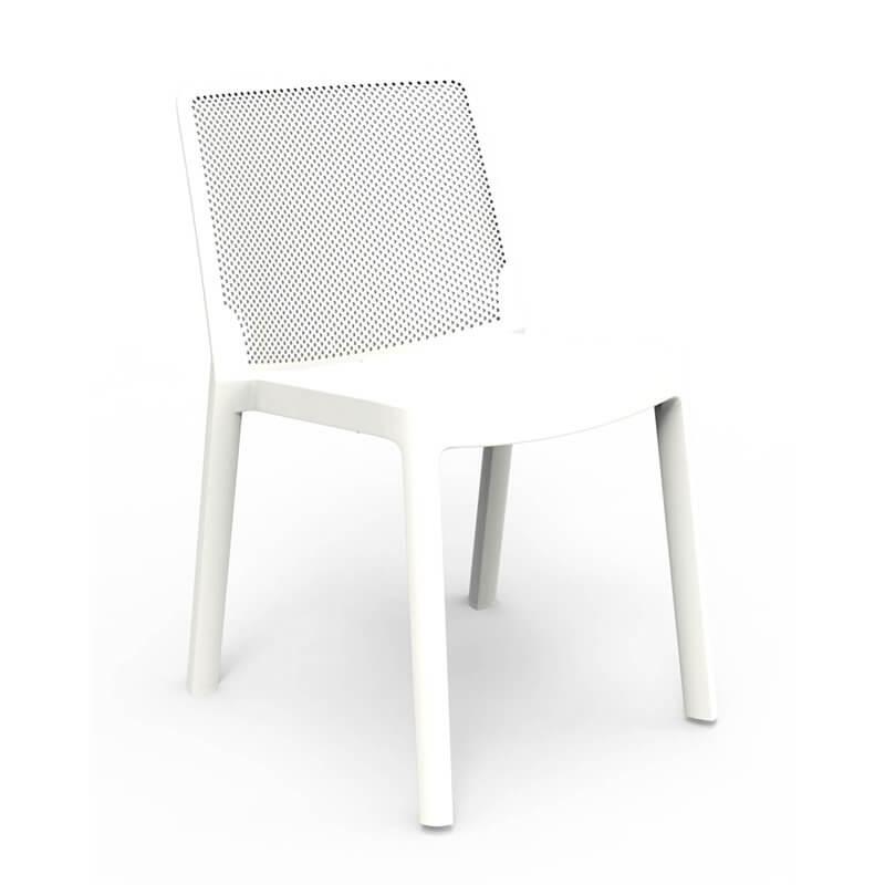 Set di 4 sedie impilabili bianche Klaus Resol 03875.4X ...
