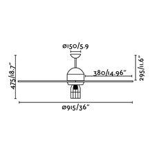 Ventilateur noir avec lumière CHICAGO de Faro