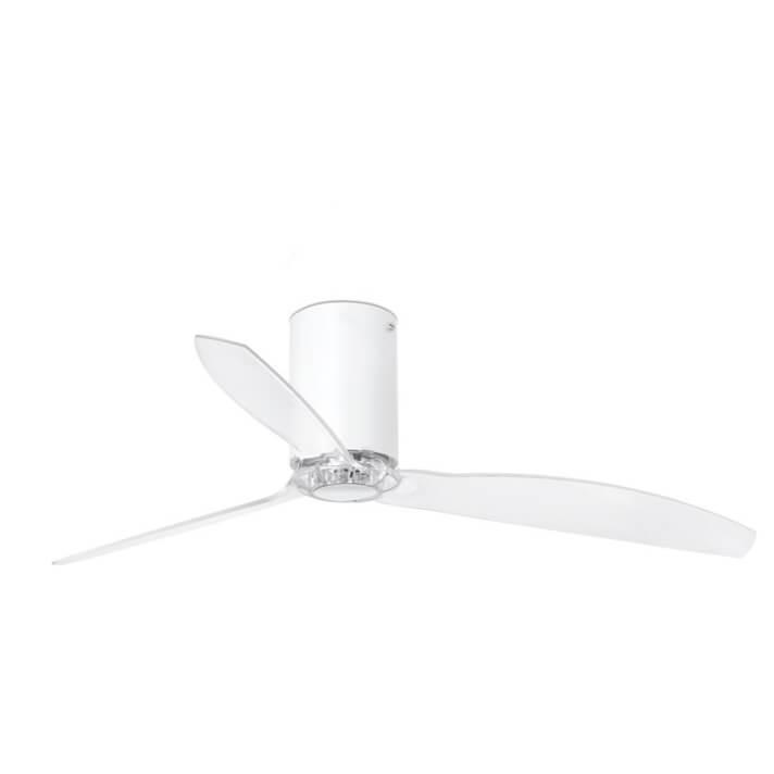 Ventilatore bianco pale trasparenti MINI TUBE FAN di Faro