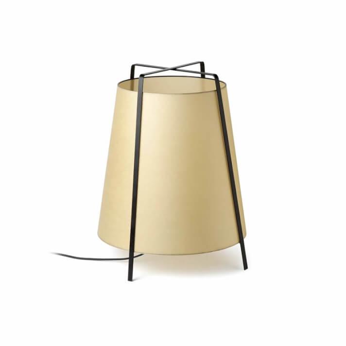 Lámpara sobremesa beige AKANE-G 20W Faro