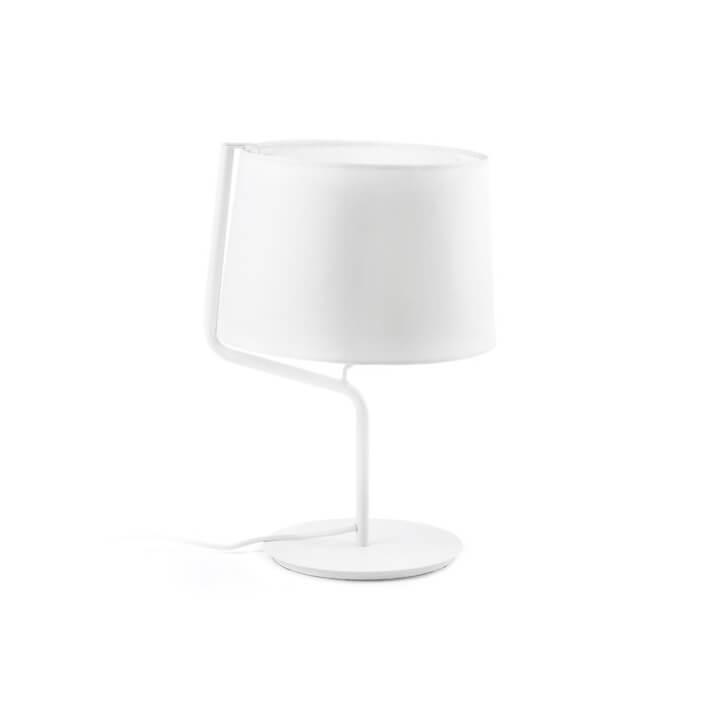 Lámpara sobremesa blanca BERNI 20W Faro
