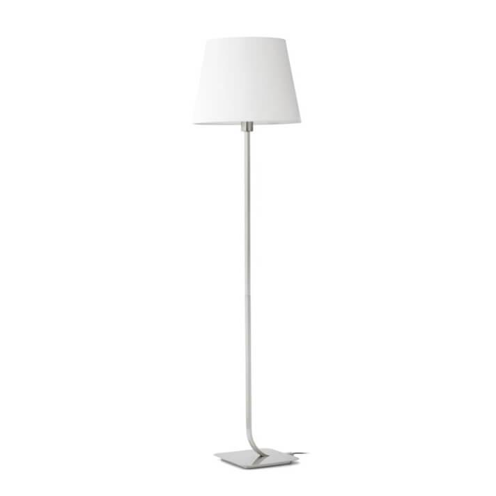 Lámpara pie níquel mate ESSENTIAL 60W Faro