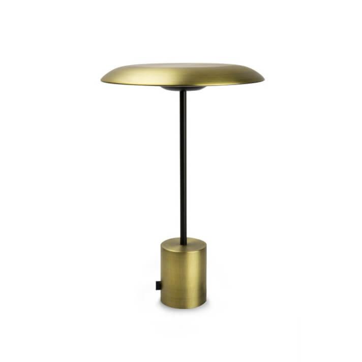 Lámpara sobremesa negro y oro satinado HOSHI 4W Faro