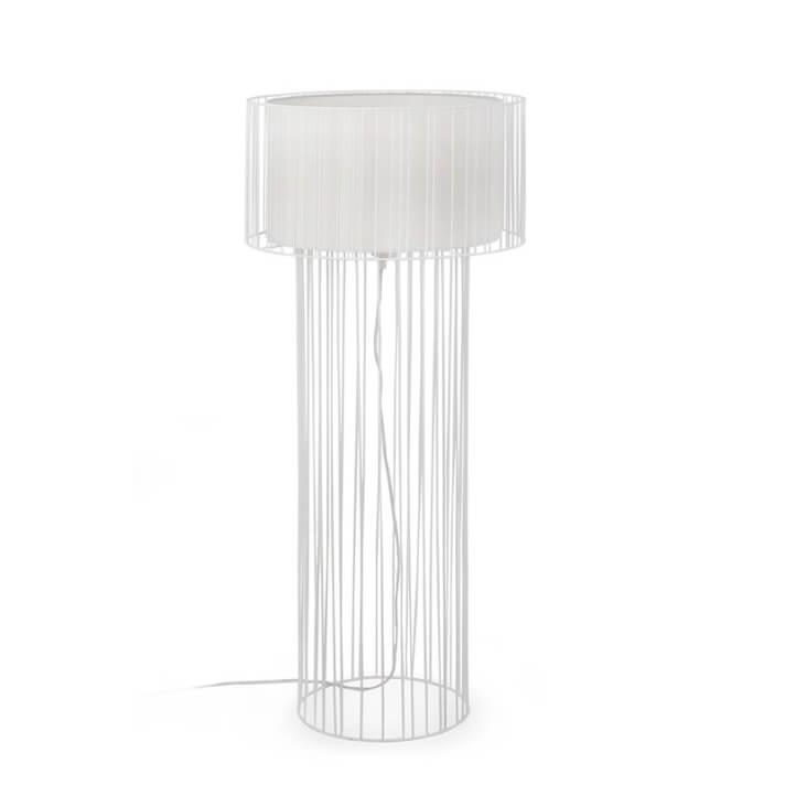 Lámpara pie blanco LINDA 100W Faro