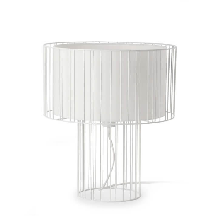 Lámpara sobremesa blanca LINDA 100W Faro