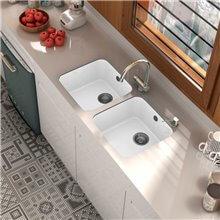 Lavello a 1 vasca bianco 44 x 44,5 cm Gandia...