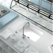 Lavello a 1 vasca bianco 74 x 44,5 cm Gandia...