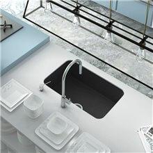 Lavello a 1 vasca nero tinta unita 74 x 44,5 cm...
