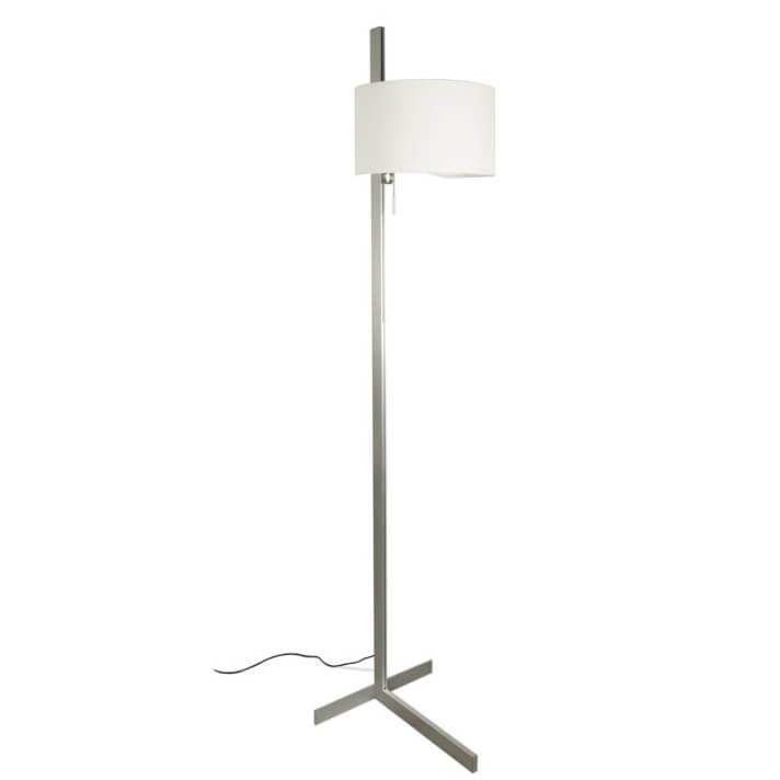Lámpara pie aluminio y blanco STAND UP 20W Faro