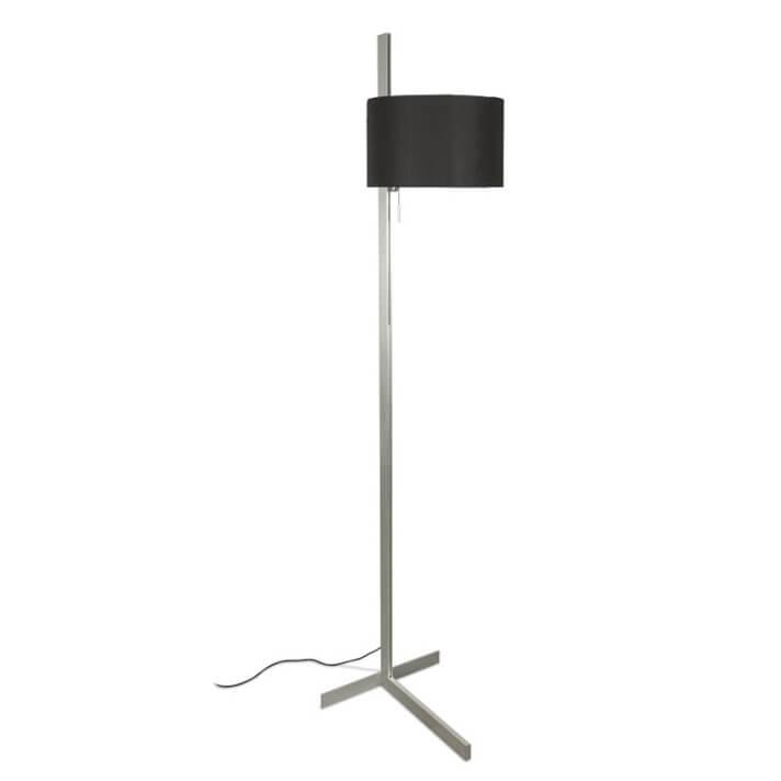 Lámpara pie aluminio y negro STAND UP 20W Faro