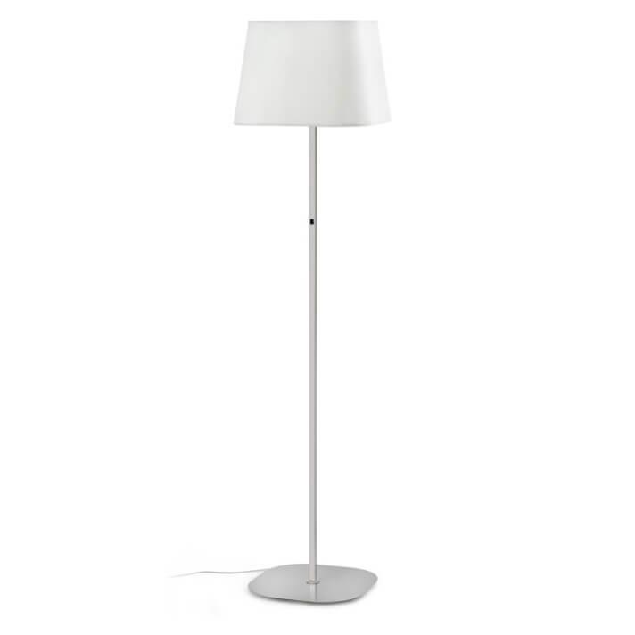 Lámpara pie níquel y blanco SWEET 20W Faro