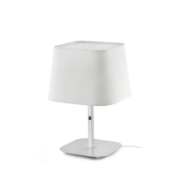 Lámpara sobremesa níquel y blanco SWEET 20W Faro