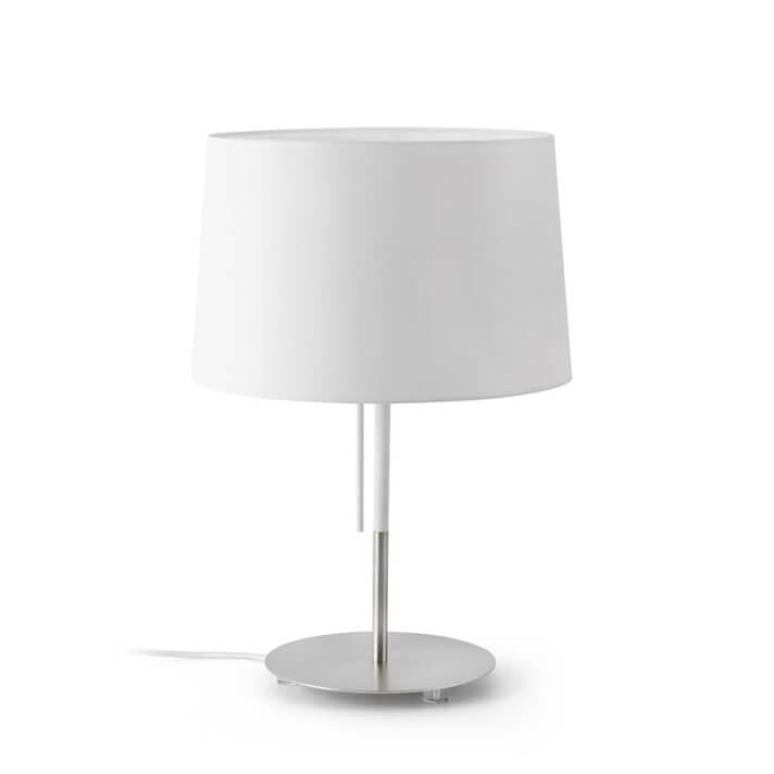 Lámpara sobremesa blanca VOLTA 20W Faro