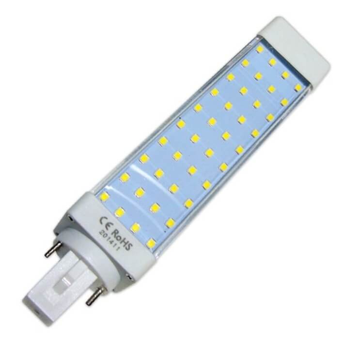 Bombilla LED G24 bi-pin 10W