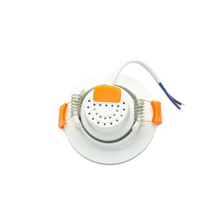 Foco LED circular direccionable 3W blanco PC