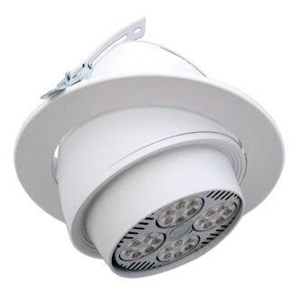 Foco circular direccionable blanco para bombillas PAR30 E27