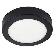 Plafón LED redondo Ø22x4cm 18W negro
