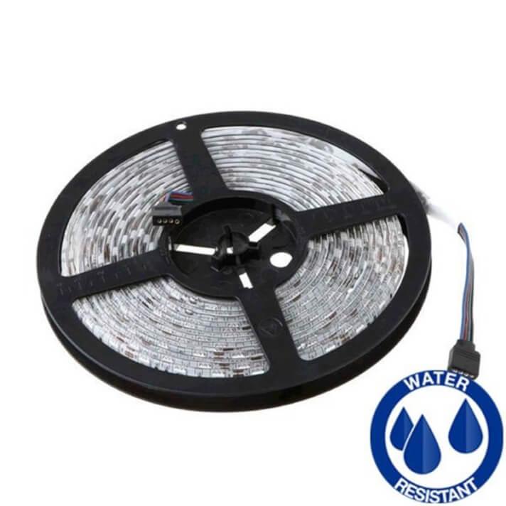 Tira LED RGB de 14.4W/m 5 metros exterior regulable