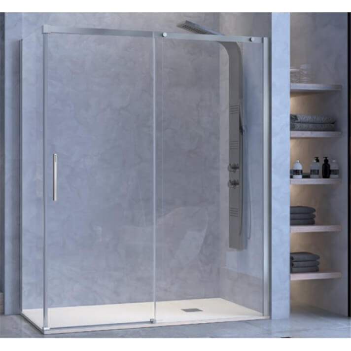 Mampara puerta corredera y lateral fijo para ducha LU102+LU103 Kassandra