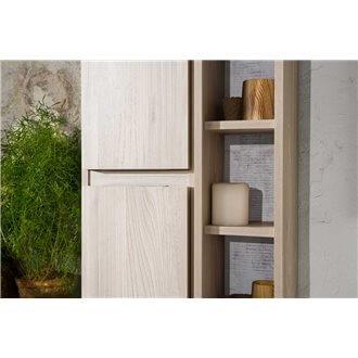 Columna con puerta 30 y módulo de estantes sin puerta 20 LIFE B10